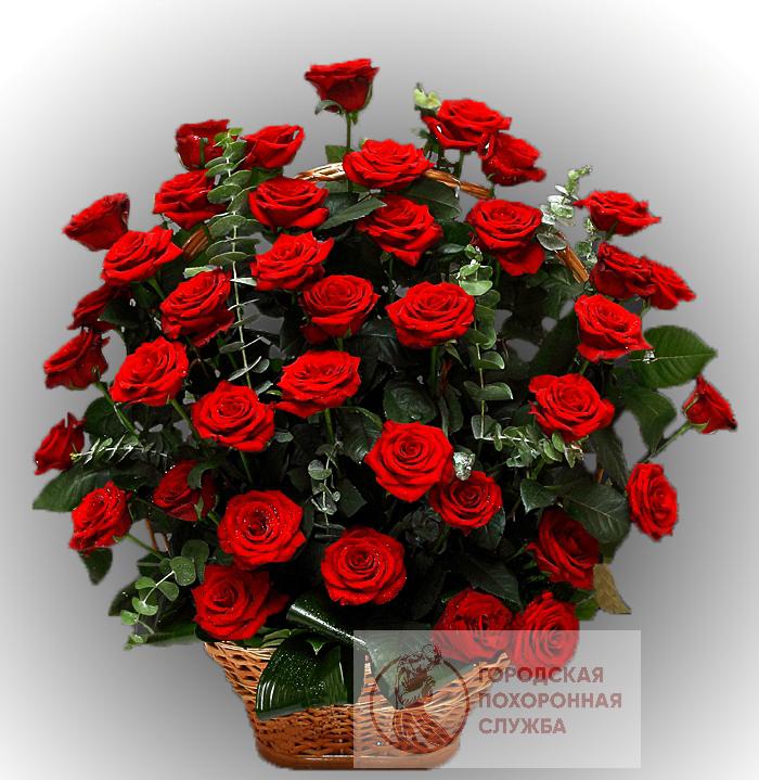Ритуальная корзина из живых цветов ЖК №25