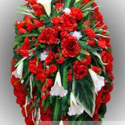Фото 21 - Элитный венок из искусственных цветов №25.