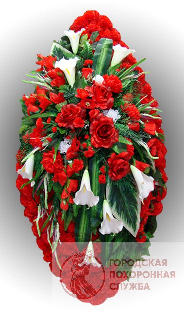 Элитный венок из искусственных цветов заказной №26