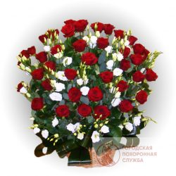 Фото 6 - Ритуальные корзина из живых цветов ЖК-26.