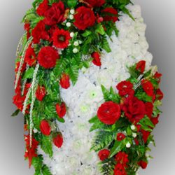 Фото 40 - Элитный венок из искусственных цветов №26.