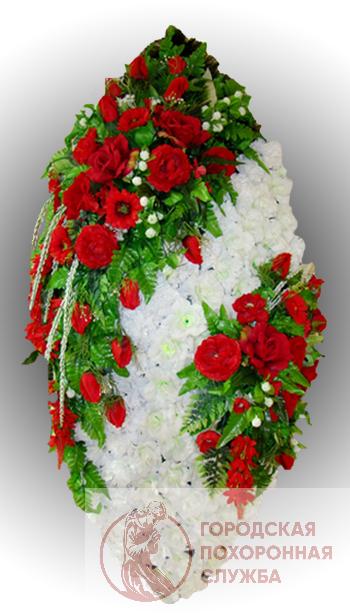 Фото 1 - Элитный венок из искусственных цветов №26.