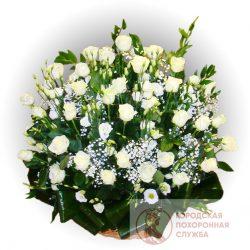 Фото 9 - Ритуальные корзина из живых цветов ЖК-27.