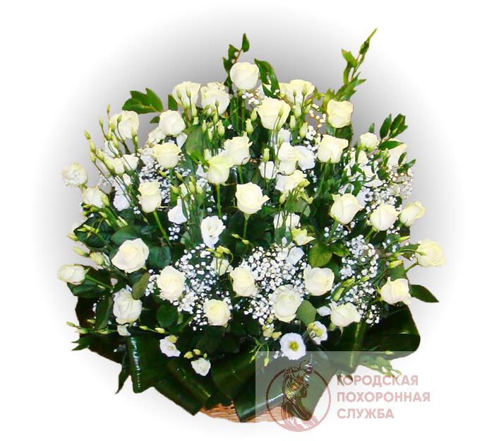 Ритуальная корзина из живых цветов ЖК №27