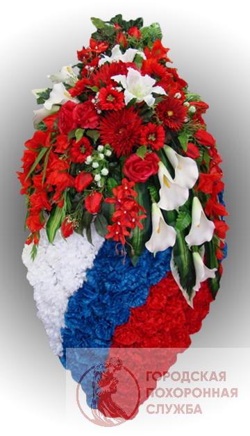 Элитный венок из искусственных цветов заказной №28