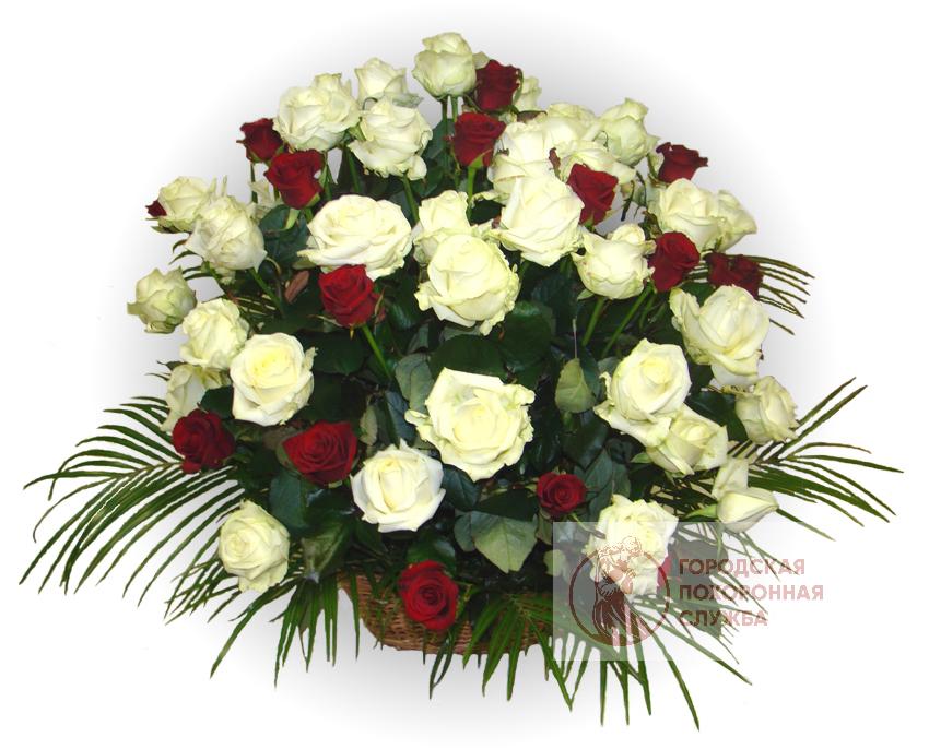 Ритуальная корзина из живых цветов ЖК №28