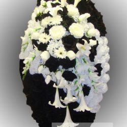 Фото 42 - Элитный венок из искусственных цветов №28.