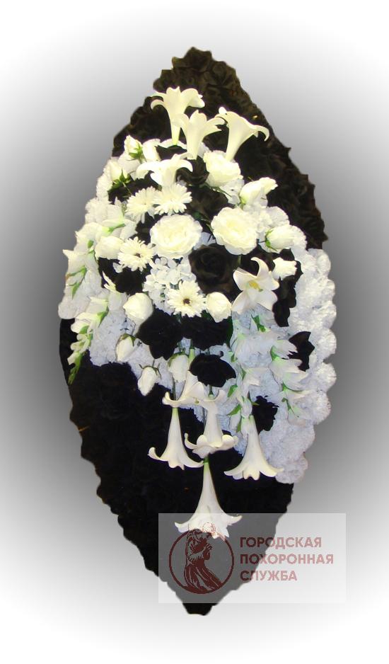 Элитный венок из искусственных цветов заказной №29