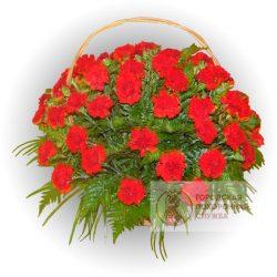 Фото 12 - Ритуальные корзина из живых цветов ЖК-29.