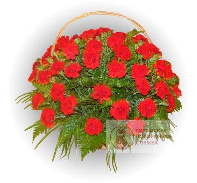 Фото 1 - Ритуальные корзина из живых цветов ЖК-29.