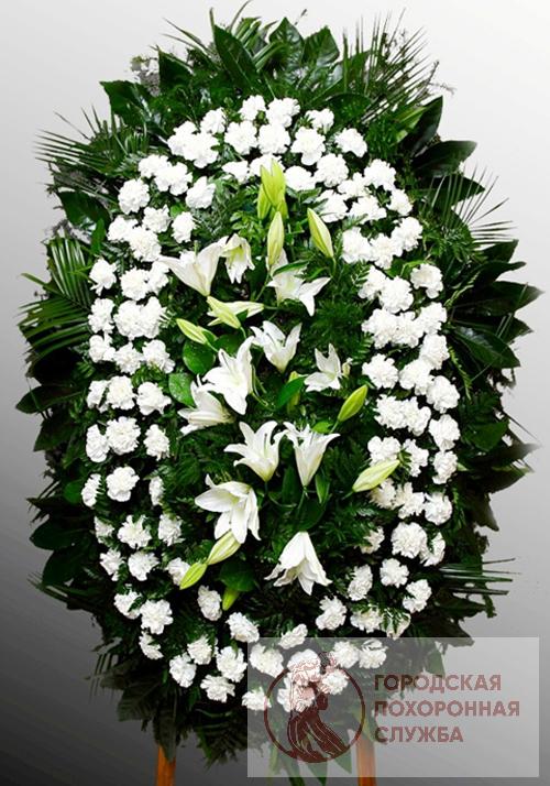 Траурный венок из живых цветов №29