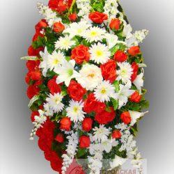 Фото 30 - Элитный венок из искусственных цветов №29.