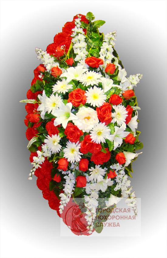 Элитный венок из искусственных цветов заказной №30