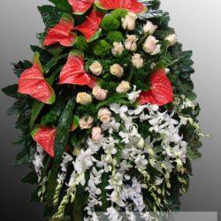 Фото 28 - Траурный венок из живых цветов ВЖЦ-31.