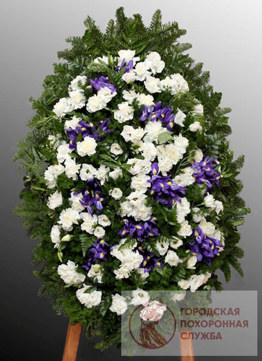 Траурный венок из живых цветов №32