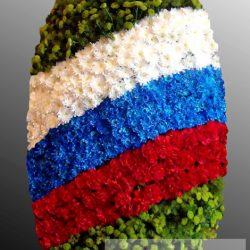 Фото 12 - Траурный венок из живых цветов ВЖЦ-33.