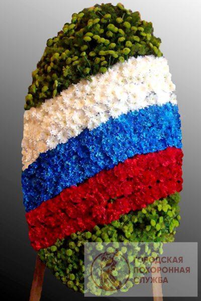 Фото 1 - Траурный венок из живых цветов ВЖЦ-33.