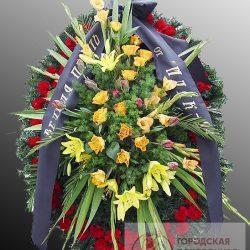Фото 34 - Траурный венок из живых цветов ВЖЦ-36.