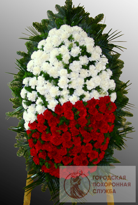Траурный венок из живых цветов №38