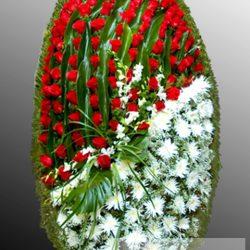Фото 12 - Траурный венок из живых цветов ВЖЦ-39.
