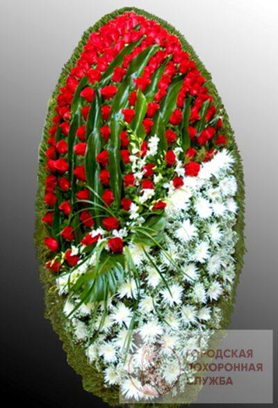 Фото 1 - Траурный венок из живых цветов ВЖЦ-39.