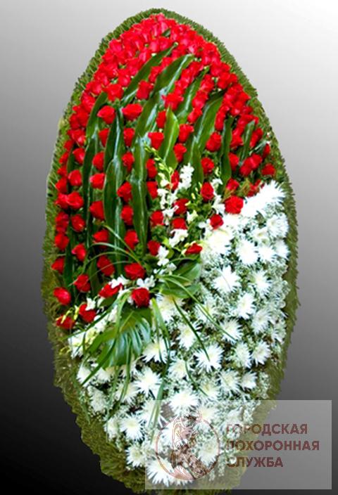 Траурный венок из живых цветов №39