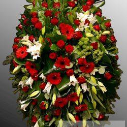 Фото 8 - Траурный венок из живых цветов ВЖЦ-40.