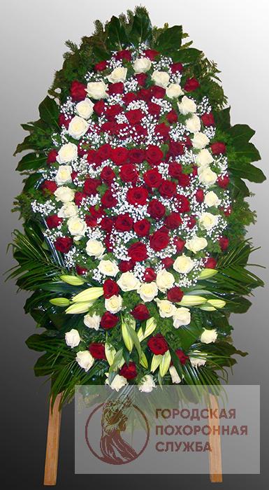 Траурный венок из живых цветов №44