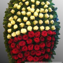 Фото 33 - Траурный венок из живых цветов ВЖЦ-50.