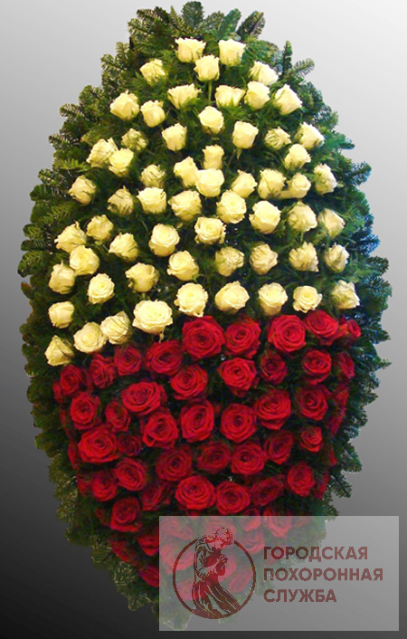 Траурный венок из живых цветов №50