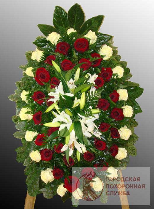 Траурный венок из живых цветов №51