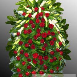 Фото 56 - Траурный венок из живых цветов ВЖЦ-56.
