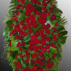 Фото 57 - Траурный венок из живых цветов ВЖЦ-57.