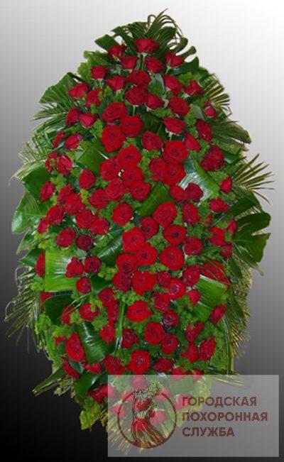 Фото 1 - Траурный венок из живых цветов ВЖЦ-57.