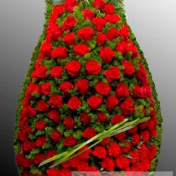 Фото 59 - Траурный венок из живых цветов ВЖЦ-59.