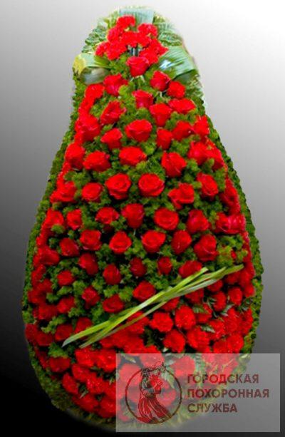 Фото 1 - Траурный венок из живых цветов ВЖЦ-59.