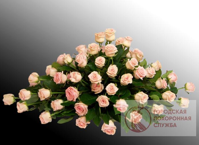 Ветка памяти из живых цветов №5