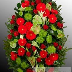 Фото 60 - Траурный венок из живых цветов ВЖЦ-60.