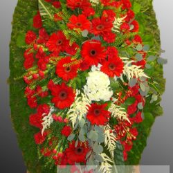 Фото 87 - Траурный венок из живых цветов ВЖЦ-66.