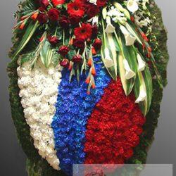Фото 67 - Траурный венок из живых цветов ВЖЦ-67.