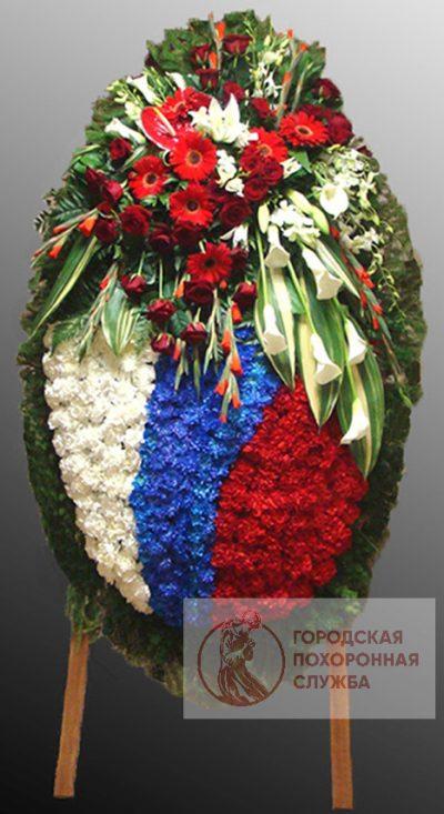 Фото 1 - Траурный венок из живых цветов ВЖЦ-67.