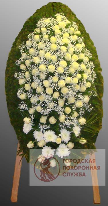 Траурный венок из живых цветов №68