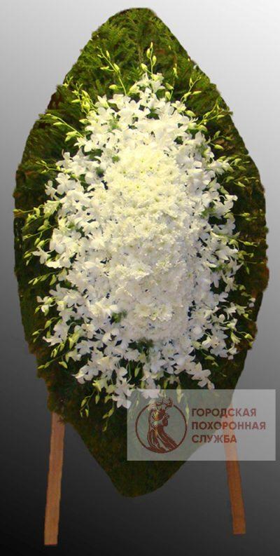 Фото 1 - Траурный венок из живых цветов ВЖЦ-70.