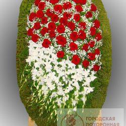 Фото 71 - Траурный венок из живых цветов ВЖЦ-71.