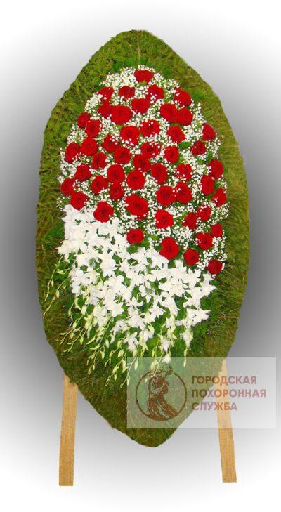 Фото 1 - Траурный венок из живых цветов ВЖЦ-71.