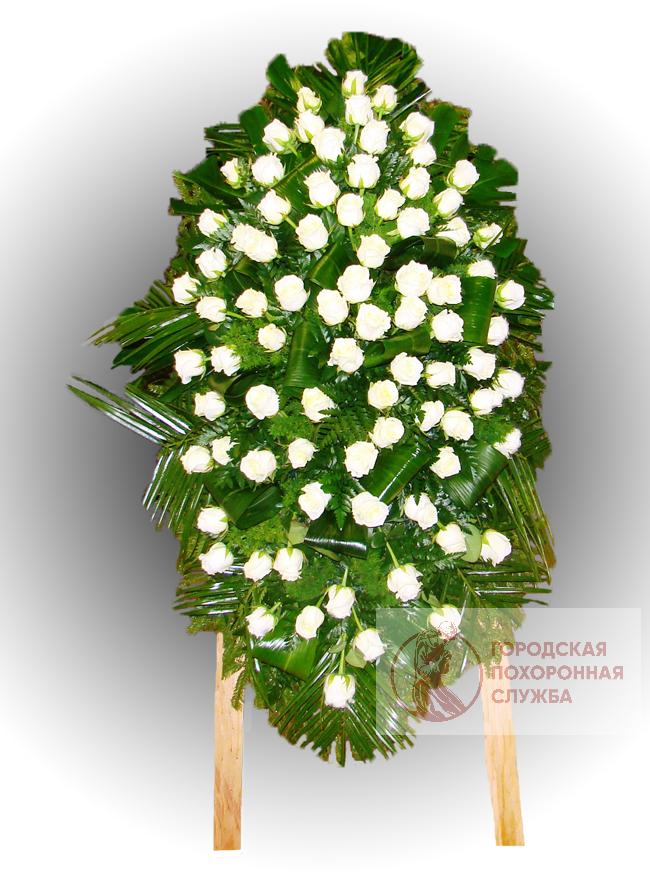 Траурный венок из живых цветов №72