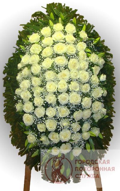 Траурный венок из живых цветов №73