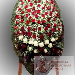 Фото 74 - Траурный венок из живых цветов ВЖЦ-74.
