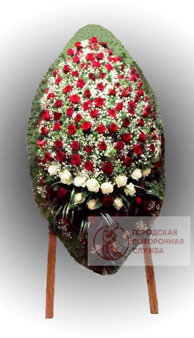 Фото 1 - Траурный венок из живых цветов ВЖЦ-74.