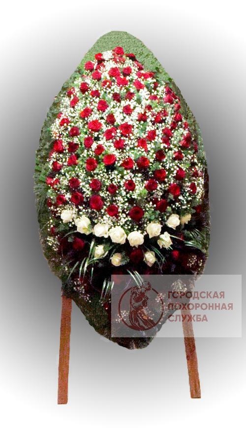 Траурный венок из живых цветов №74
